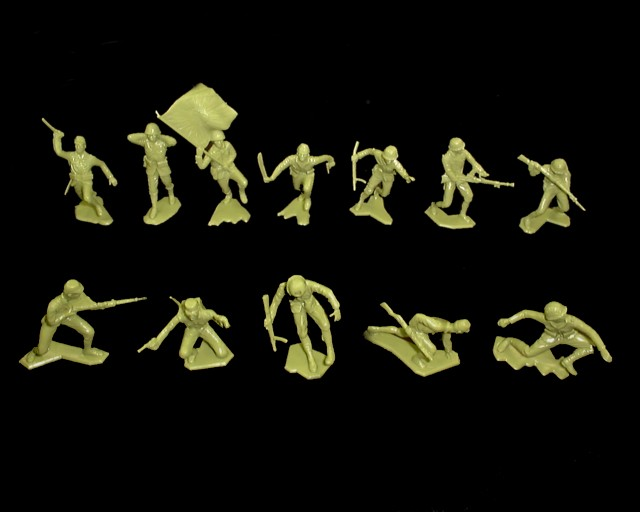 Japanese 32 figures in 12 poses (green)  <font color=#CC0000>(54mm) </FONT>