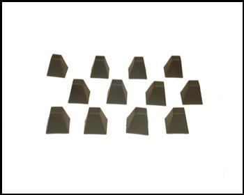 Anti-Tank Dragons Teeth -- 12 pieces  <font color=#CC0000>(54mm) </FONT>
