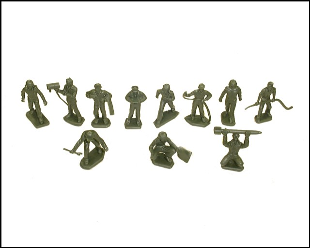 Ground Crew 22 figures in 11 poses  (green) <font color=#CC0000>(45mm) </FONT>