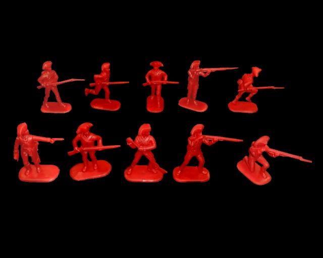 British Infantry 20 figures in 10 poses (red) (5466) <font color=#CC0000>(54mm) </FONT>