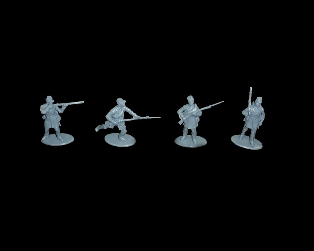 Union Colored Infantry 16 figures in 4 poses ( blue)  (series 11) <font color=#CC0000>(54mm) </FONT>