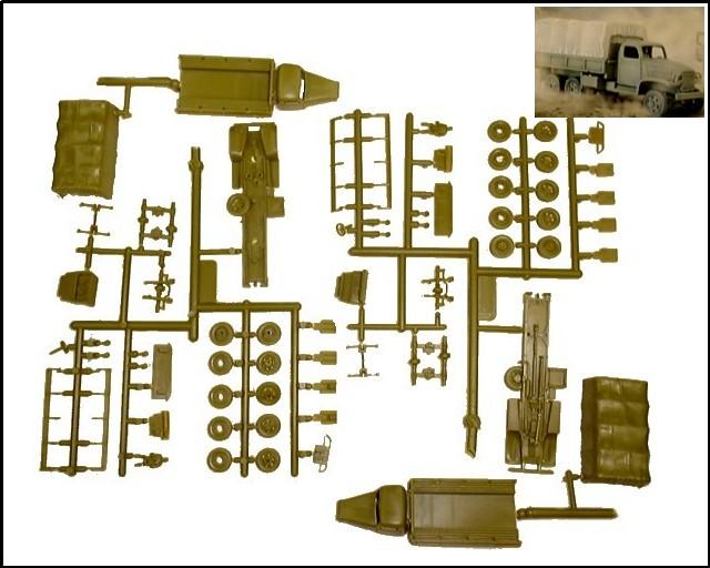 US Army Trucks (x2) -- 64 pieces (7651) <FONT COLOR=#CC0000>(25mm) </FONT>