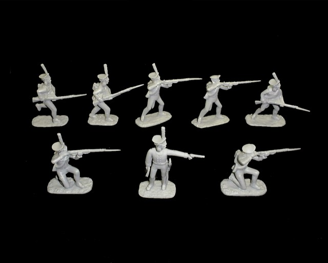 Russian  Infantry 20 in 8 poses (gray) (5493) <FONT COLOR=#CC0000>(54mm) </FONT>