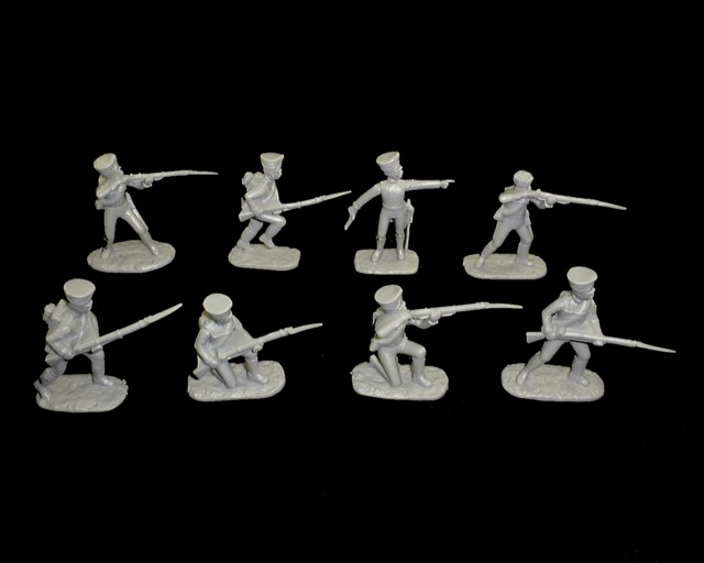 Prussian  Infantry 16 figures in 8 poses (gray) (5496) <FONT COLOR=#CC0000>(54mm) </FONT>
