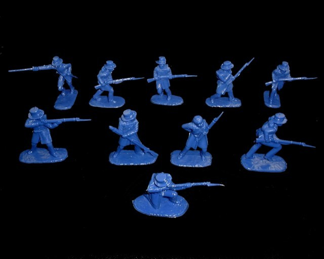 Union Iron Brigade 20 figures in 10 poses (blue)  (5410)<font color=#CC0000>(54mm) </FONT>
