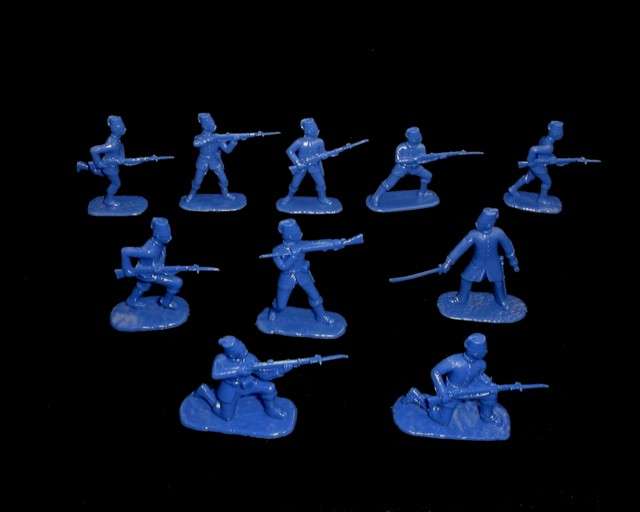 Egyptian Infantry (1882) 20 figures in 10 poses (blue)  (5427) <font color=#CC0000>(54mm) </FONT>