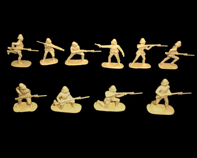 British Infantry Boxer Rebellion (1900) 20 figures in 10 poses (cream)  (5420) <font color=#CC0000>(54mm) </FONT>
