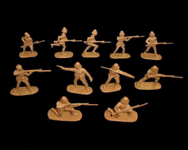 British Infantry Boer War 20 figures in 10 poses (tan) (5422)  <font color=#CC0000>(54mm) </FONT>