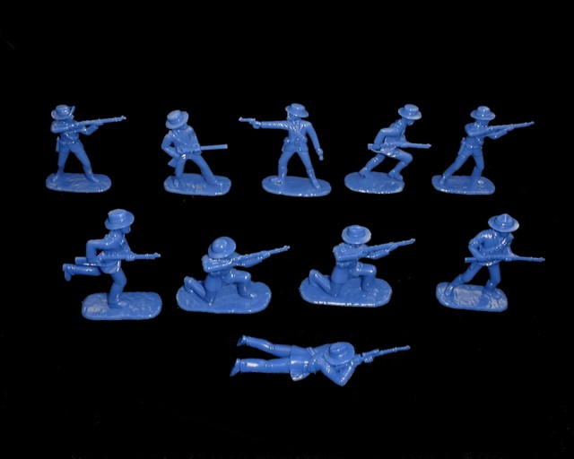 Boer Commandos 20 figures in 10 poses (Blue)  (5424A) <font color=#CC0000>(54mm) </FONT>