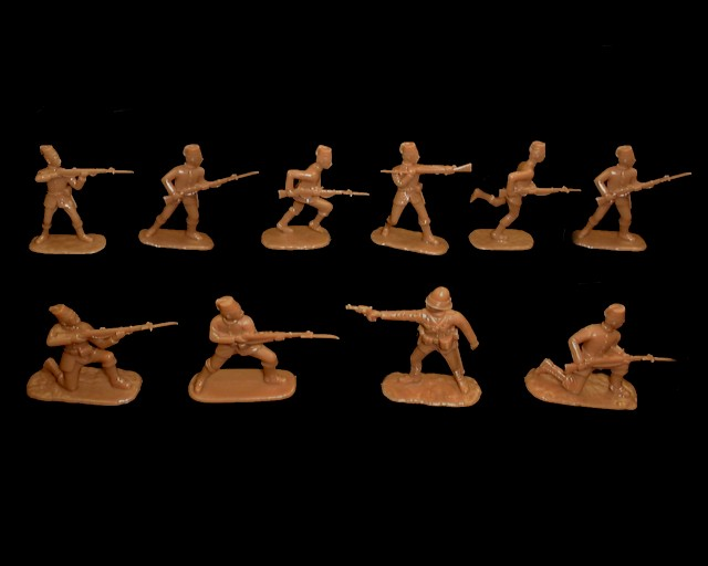Anglo - Egyptian Army (1885) 20 figures in 10 poses (tan)  (5428)<font color=#CC0000>(54mm) </FONT>