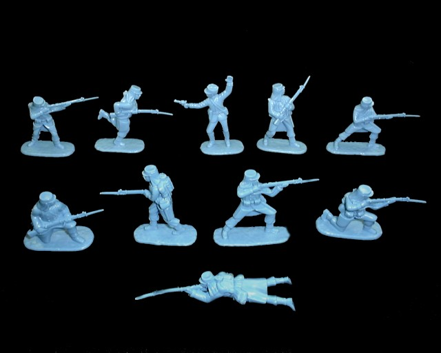 Foreign Legion North African (1900) 20 figures in 10 poses (medium blue) (5418)   <font color=#CC0000>(54mm) </FONT>