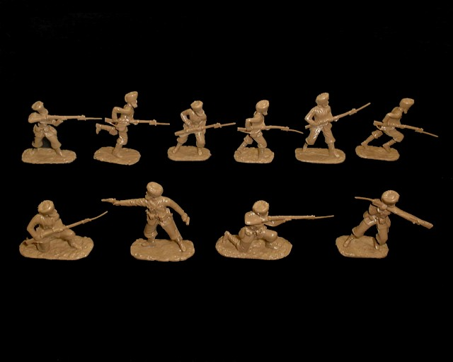 Indian Army WWI  20 figures in 10 poses  (brown) (5444) <font color=#CC0000>(54mm) </FONT>