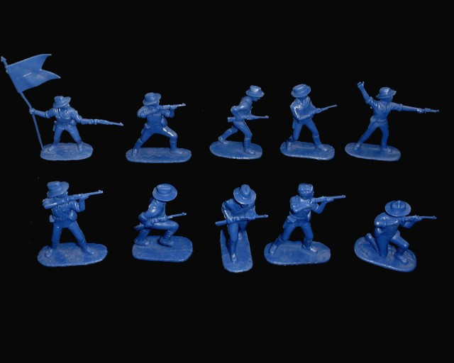 American Rough Riders 20 figures in 10 poses (blue)  (5414A) <FONT COLOR=#CC0000>(54mm) </FONT>
