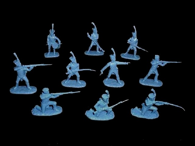 French Line Infantry 20 figures in 10 poses (blue)  (5455) <font color=#CC0000>(54mm) </FONT>