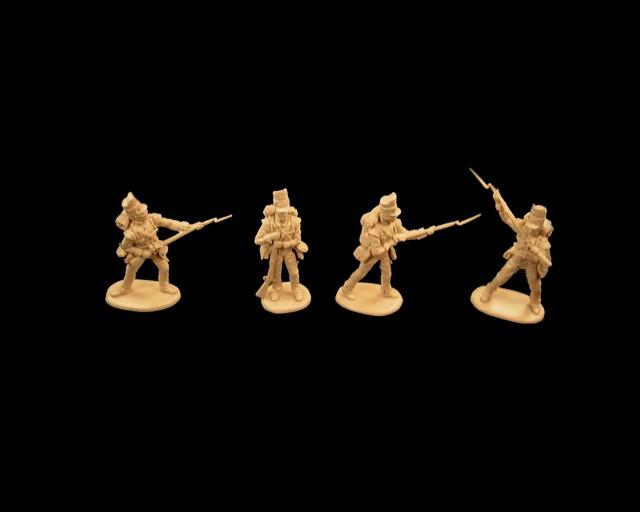 British Foot Guards 16 figures in 4 poses  (tan) (series 12)  <font color=#CC0000>(54mm) </FONT>