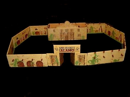 Davy Crockett Alamo Fort, Chapel and Gate w/8 wall pegs  <FONT COLOR=#CC0000>(54mm) </FONT>
