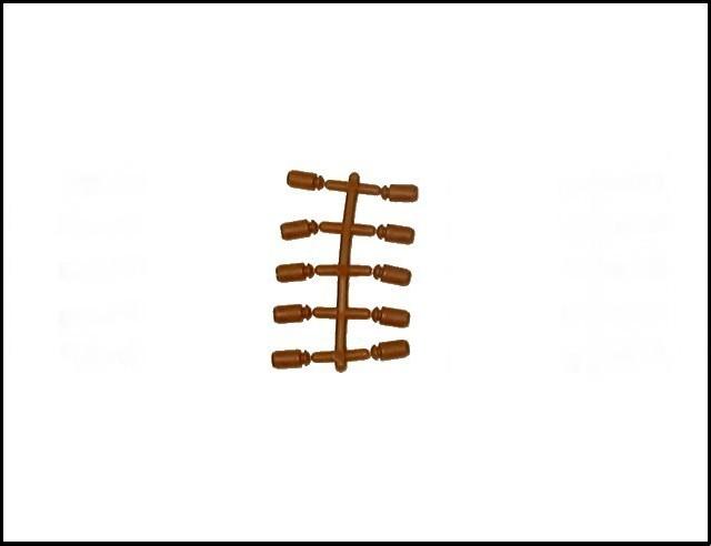 Alamo Wall Pegs -- 10 pieces (brown) <font color=#CC0000>(54mm) </FONT>