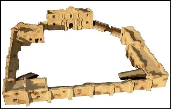 Alamo Fort (48'' x 48'') (14 pieces) <font color=#CC0000>(54mm) </FONT>