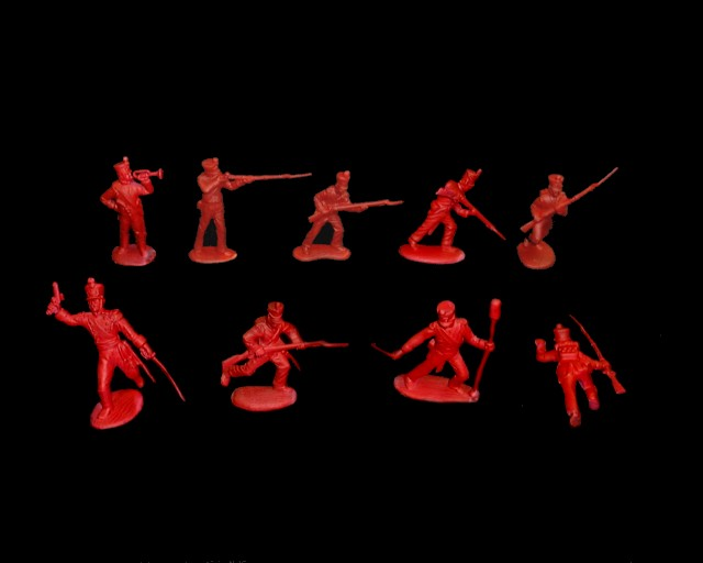 Mexican / Napoleonic Infantry  2nd series 12 figures in 9 poses (red) <font color=#CC0000>(54mm) </FONT>