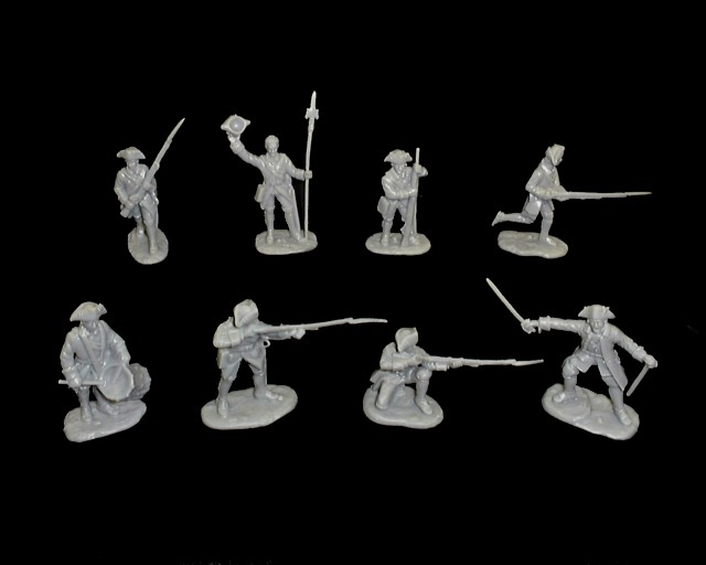 French Infantry 16 figures in 8 poses (gray) (5542)  <FONT COLOR=#CC0000>(54mm) </FONT>