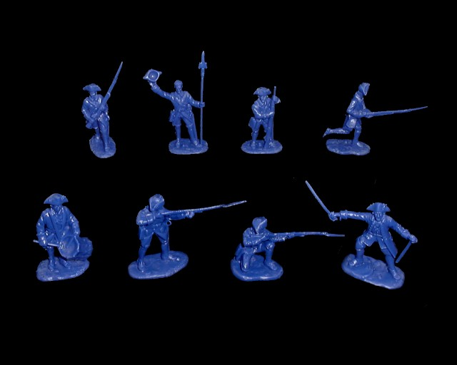 French Infantry 16 figures in 8 poses (dark blue) (5543)  <FONT COLOR=#CC0000>(54mm) </FONT>