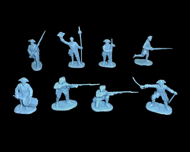 French Infantry 16 figures in 8 poses (blue) (5544)  <FONT COLOR=#CC0000>(54mm) </FONT>