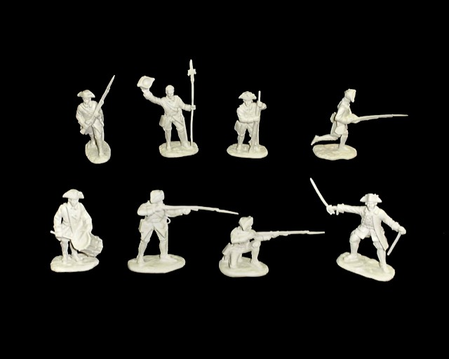 French and Indian War Austrian Infantry 16 figures in 8 poses (white) (5545)  <FONT COLOR=#CC0000>(54mm) </FONT>