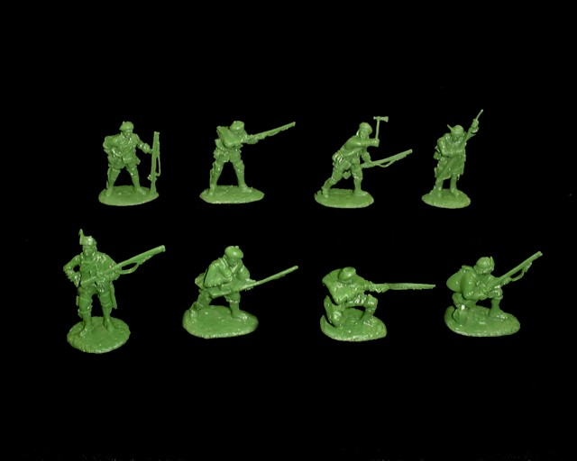 Roger's Rangers 16 figures in 8 poses  (5549) (green) <FONT COLOR=#CC0000>(54mm) </FONT>
