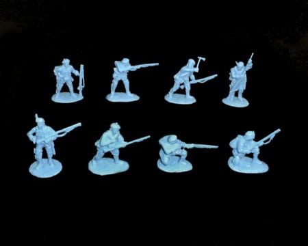 John Stark's Rangers 16 figures in 8 poses  (5550) (blue) <FONT COLOR=#CC0000>(54mm) </FONT>