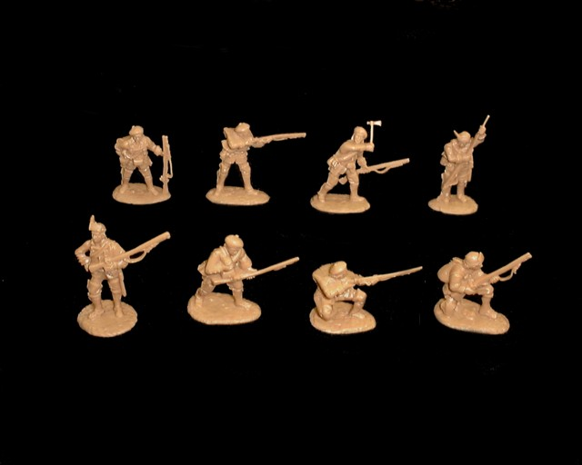 Gage's 80th Regiment 16 figures in 8 poses  (5552) (tan) <FONT COLOR=#CC0000>(54mm) </FONT>