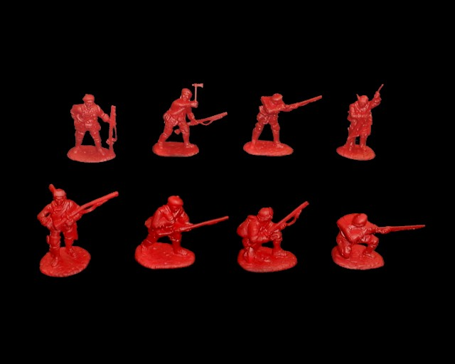 British Light Infantry 16 figures in 8 poses  (5553) (red) <FONT COLOR=#CC0000>(54mm) </FONT>