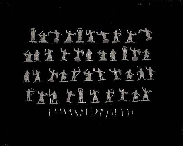 Biblical Hebrew Warriors -- 58 pieces (014)  <FONT COLOR=#CC0000>(25mm) </FONT>
