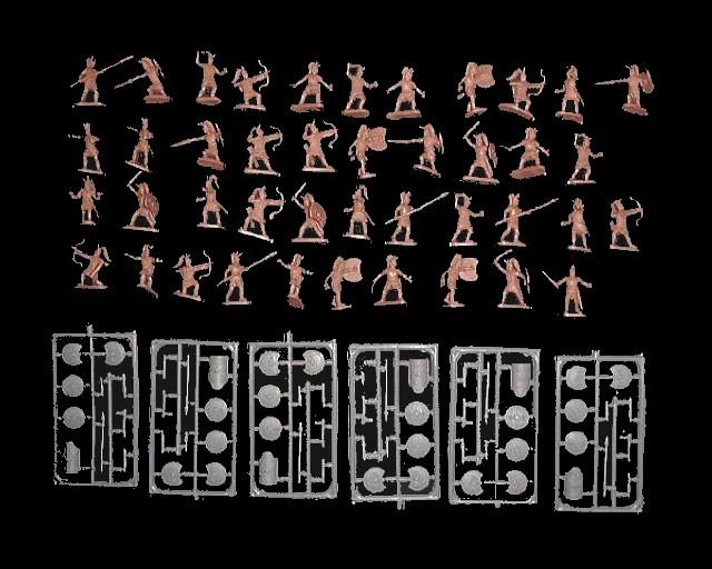 Trojan War Mycenaean Army  (020) -- 102 pieces (020) <FONT COLOR=#CC0000>(25mm) </FONT>