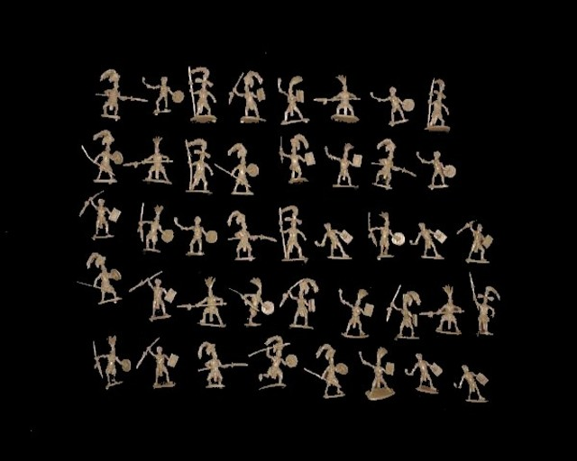 Mayan Warriors --- 42 pieces (027) <FONT COLOR=#CC0000>(25mm) </FONT>