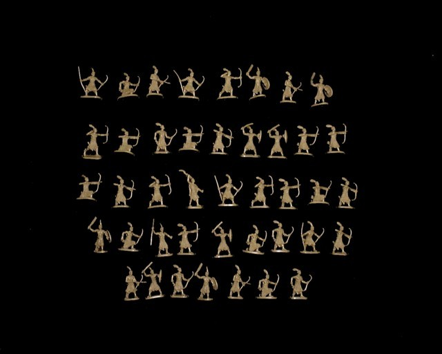 Ancient Nubian Warriors -- 48 pieces (049) <FONT COLOR=#CC0000>(25mm) </FONT>