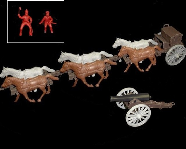 Limber  and 12 pound cannon w/6 horses (red driver & rider) <FONT COLOR=#CC0000>(54mm) </FONT>
