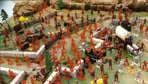 Battle of Independence Playset --- 205 pieces---(s&h $30) <FONT COLOR=#CC0000>(54mm) </FONT>