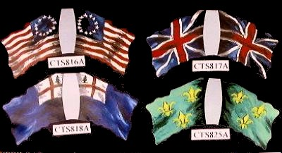 Colonial''Betsy Ross'' Flag (left top)   <font color=#CC0000>(54mm) </FONT>
