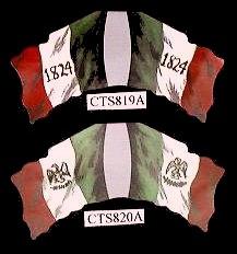 Alamo Mexican Flag (bottom)   <font color=#CC0000>(54mm) </FONT>