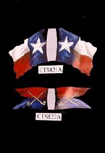 Texas Civil War/Indians Wars Flag (top)  <font color=#CC0000>(54mm) </FONT>