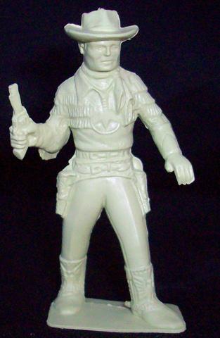 Marx original Roy Rogers figure, 60mm standing with pistol