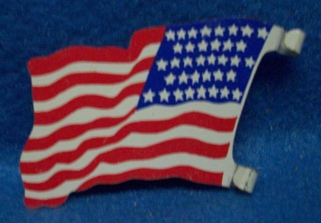 MARX American Flag (original) (36 stars)  <font color=#CC0000>(54mm) </FONT>