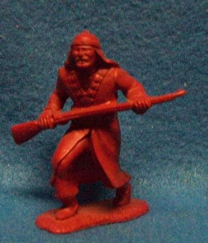 MARX Arab w/rifle (original) 1 figure in 1 pose (brown)   <font color=#CC0000>(60mm) </FONT>