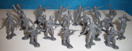 Giant brand WWII German infantry-20 figures(25mm) (original)