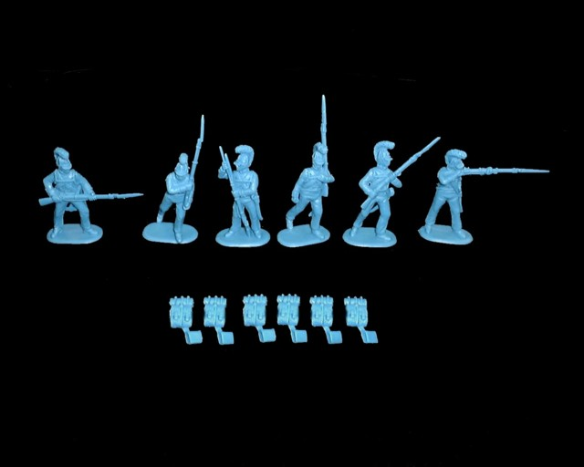 Wurttemberg Musketeers 18 figures in 6 poses  (9309) <FONT COLOR=#CC0000>(54mm) </FONT>