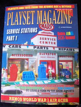 Playset Magazine #50 Marx service stations,Remco WWI playsets
