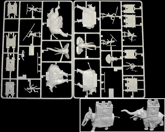 War Elephants 3rd-1st centuries BC -- 25 pieces  (8011)  <font color=#CC0000>(25mm) </FONT>