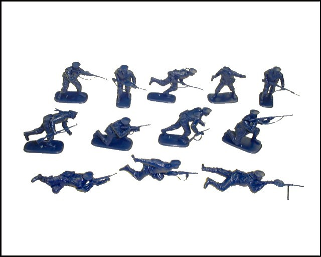 WWII Russian Naval Infantry 12 figures in 12 poses (blue) (3203) <FONT COLOR=#CC0000>(54mm) </FONT>