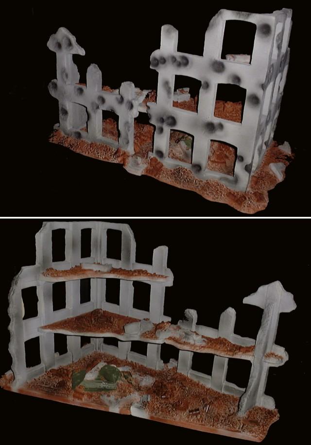 Destroyed Stalingrad factory (27''L x 17''W x 17''H) <FONT COLOR=#CC0000>(54mm) </FONT>