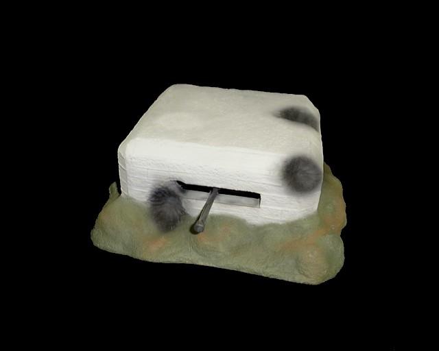 D-Day Artillery Bunker (9''L x 7.5''W x 3.25''H)  <FONT COLOR=#CC0000>(54mm) </FONT>
